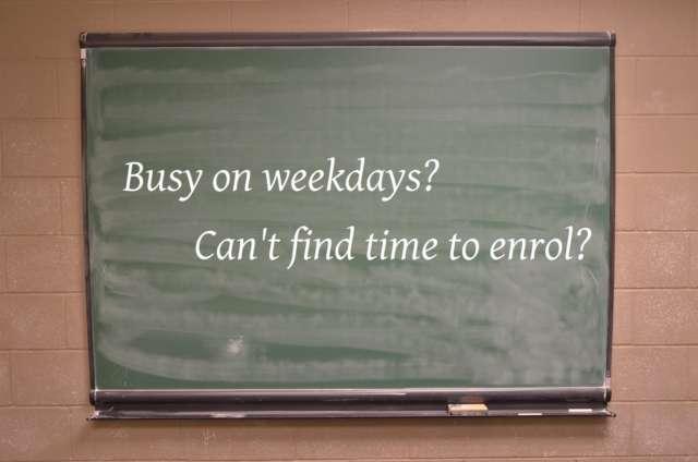 Saturday Enrollment